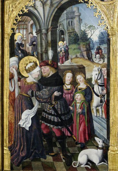 Postkarte: Elisabeth nimmt Abschied von Ludwig