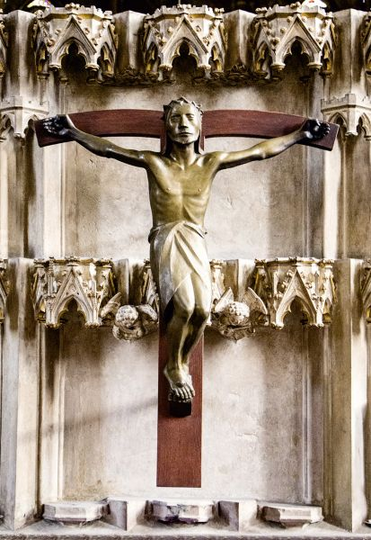Postkarte: Barlach Kruzifix