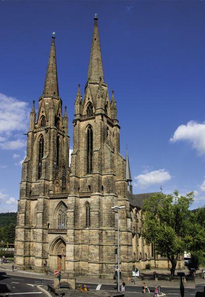 Postkarte: Westturmalage der Elisabethkirche