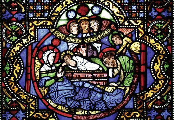 Postkarte: Elisabethfenster - Geburt Christi
